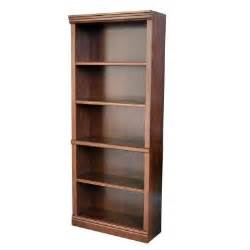 hton bay 5 shelf decorative bookcase in dark brown