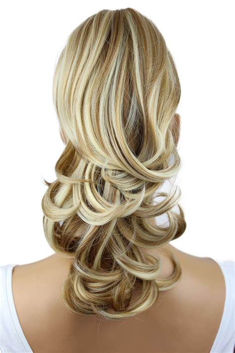 hair prettyshop pony piece extensions rated tail extension heat wavy voluminous resis clip blonde