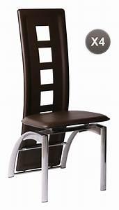 chaises de cuisine salle a manger marron moderne jackie With salle À manger contemporaine avec chaise osier conforama