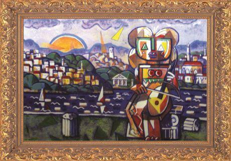I.K. Shqipëria Fantastike | Painting, Cubist, Artwork