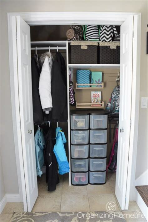 Small Hallway Closet Organization Ideas by 15 Amazing Entryway Storage Hacks Ideas You Ll