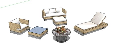 google sketchup patio furniture plans diy