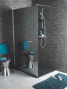 Paroi De Douche Miroir : salle de bain une douche dimension c t maison ~ Dailycaller-alerts.com Idées de Décoration