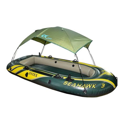 Seahawk 6 Person Inflatable Boat by Intex Seahawk 68347 68349 68351 Inflatable Boat Tent Sun