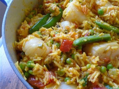Fabulous Mediterraneanstyle Scallop Paella Recipe Foodcom