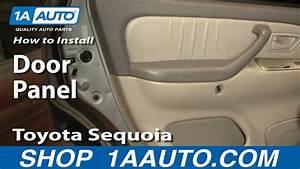 How To Install Replace Remove Door Panel Toyota Sequoia 01