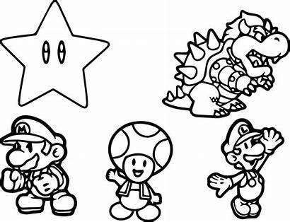 Mario Coloring Characters Bros Drawing Character Bad