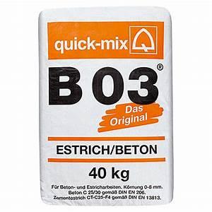 Beton Estrich Berechnen : quick mix estrichbeton b 03 40 kg chromatarm 5547 marken moertel bindemittel re fada ~ Watch28wear.com Haus und Dekorationen