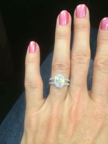 Ovals, Halos, And Diamond Size!  Weddingbee. Stag Head Wedding Rings. Swarovski Rings. Meaningful Wedding Rings. Beveled Rings. Silk Thread Rings. Chemistry Rings. 2ct Engagement Rings. Class Engagement Rings
