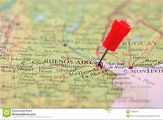 Pin In Map Of Buenos Aires, Argentina Stock Photo Image