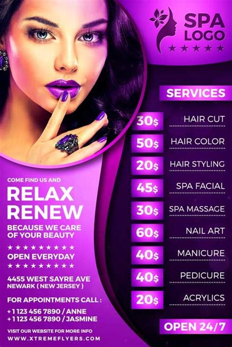beauty salon flyer template  designed  advertise