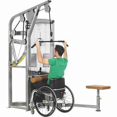 Lat Pull Equipment Accessible Pulldown Disabled Gym