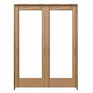shop jeld wen prehung solid core 1 lite oak french With 60x80 french doors