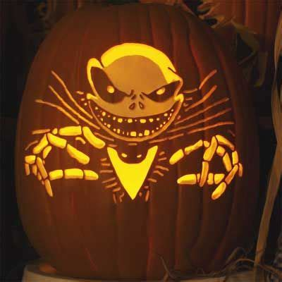 nightmare  christmas pumpkin carving pictures