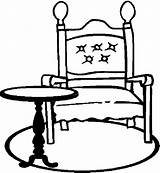 Table Chair Furniture Coloring Pages sketch template