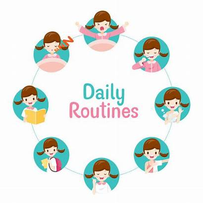 Daily Routines Routine Chart Activities Circle Clipart
