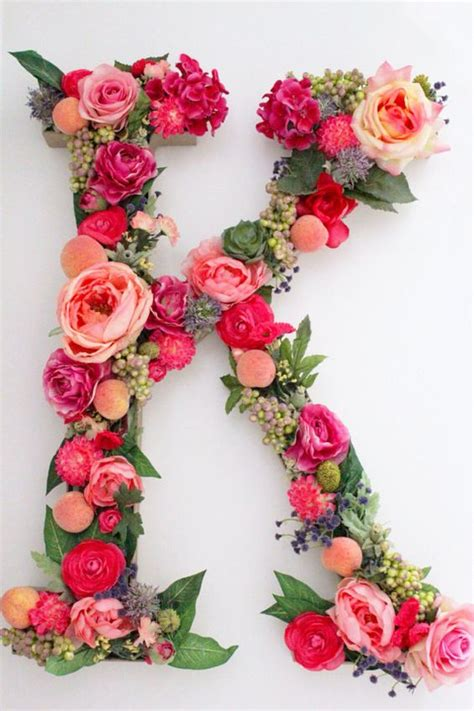 custom floral letters   variety   spell  initials names   meaningful word