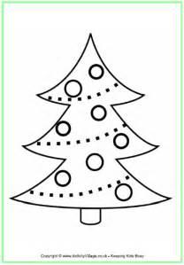 christmas tree colouring page 2