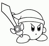 Kirby Ya Coloring Pages Right Meta Knight Sword Dedede King Dark Ability Copy Antagonists Nightmare Matter Main Creature Pink sketch template
