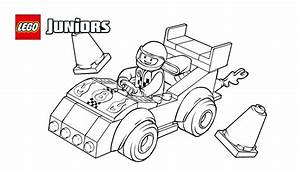 Legou00ae Juniors Race Car Coloring Page Coloring Pages