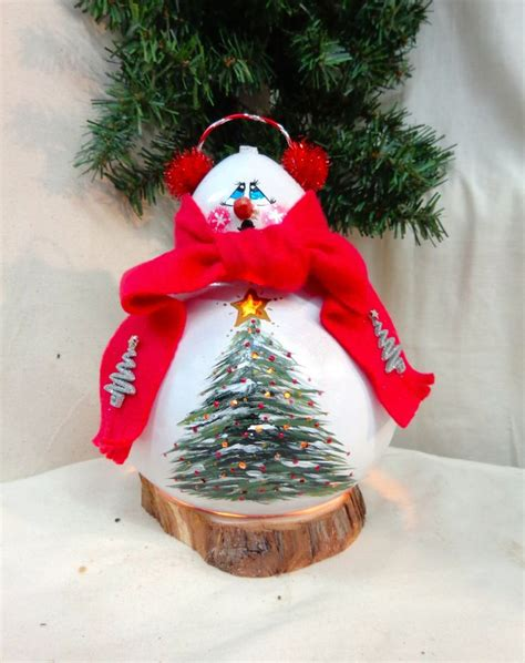 painted hand christmas trees 1000 images about my painted gourds on santa ornaments and