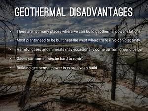Disadvantage Of Geothermal Energy