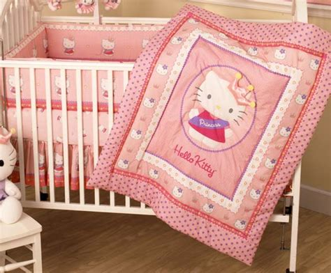 hello kitty crib set hello kitty princess 3 crib bedding set