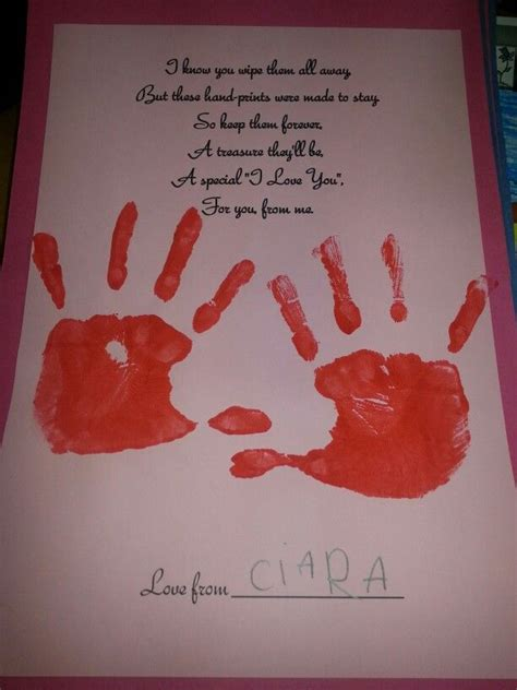 infants tp valentines day poem and handprint one year 575 | 8cd6cb510a0c2857e7a79a2470703f57