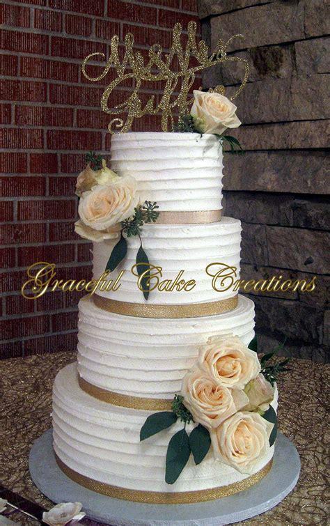 rustic textured ivory butter cream wedding cake