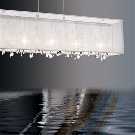 rectangular chandelier can become highlight