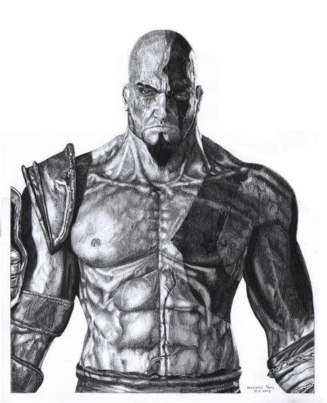 Kratos From God Of War By Parisvasiliadis On Deviantart