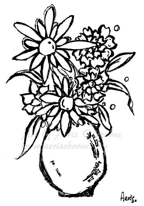 flower vase coloring flowers vase printable coloring page floral