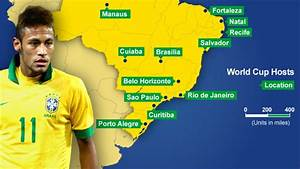 BBC Sport - 2014 Fifa World Cup: Where are the 12 host ...