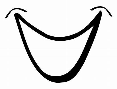 Mouth Smiling Drawing Vector Comic Smile Clipart