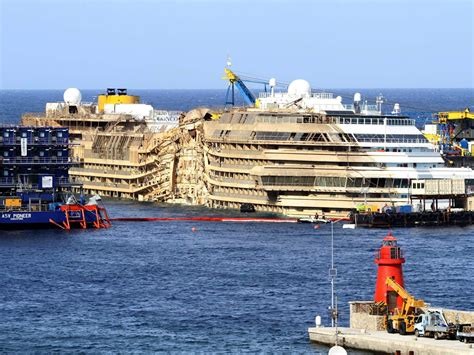 WATCH Time-Lapse Video Of The Costa Concordia Being Righted | Ideastream