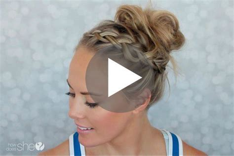 this gym hairstyle tutorial is perfect for keeping your