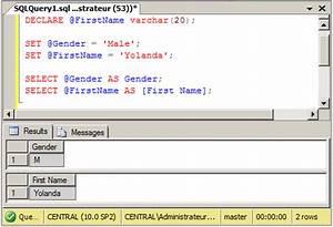 Microsoft SQL S... Sql Variables Quotes