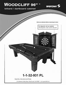 Sportcraft Pool Table Manual L1001217