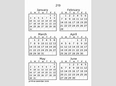 Download 219 Printable Calendars