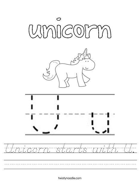 unicorn starts   worksheet dnealian twisty noodle