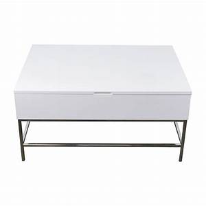 off west elm storage table west elm white lacquer wood With west elm square coffee table