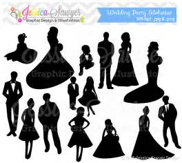 Wedding Party Silhouette Clip Art