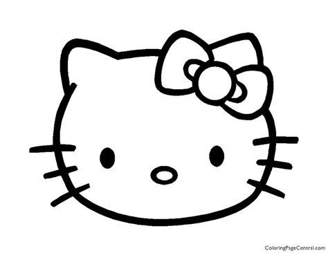 Hello Kitty Coloring Page 04 Coloring Page Central
