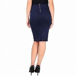 Womens Ladies Workwear Office Business Smart Casual Knee ...