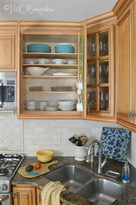 Cabinet Shelf - how to add shelves to kitchen cabinets h2obungalow