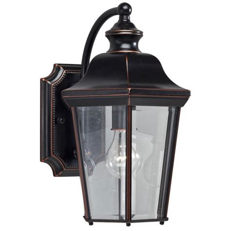 shop portfolio 14 25 in h olde copper outdoor wall light