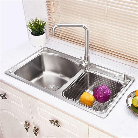 modern simple 304 stainless steel sink arc design large