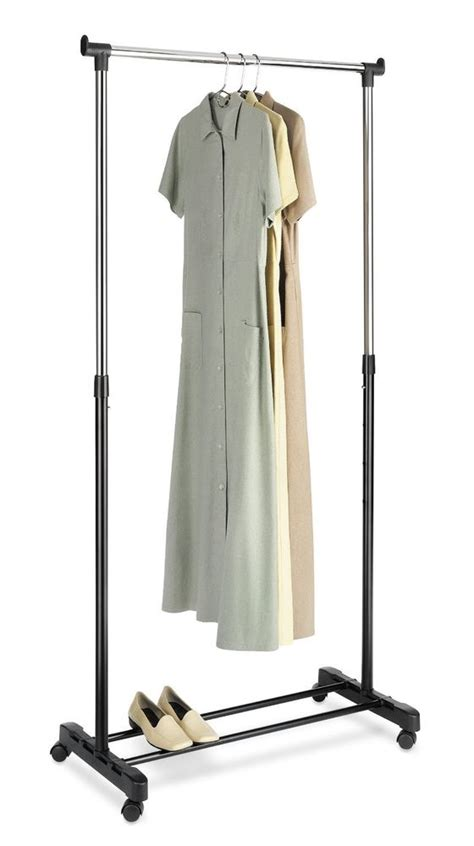garment rack adjustable clothes portable hanger rolling