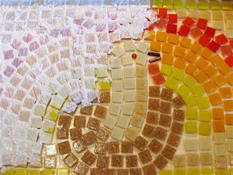 grouting mosaic tile thanksgiving mosaic platter project woo jr activities