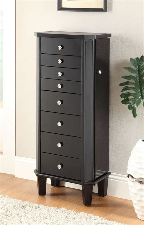 Jewelry Furniture Armoire by Black Jewelry Armoire 903809 Coaster Furniture